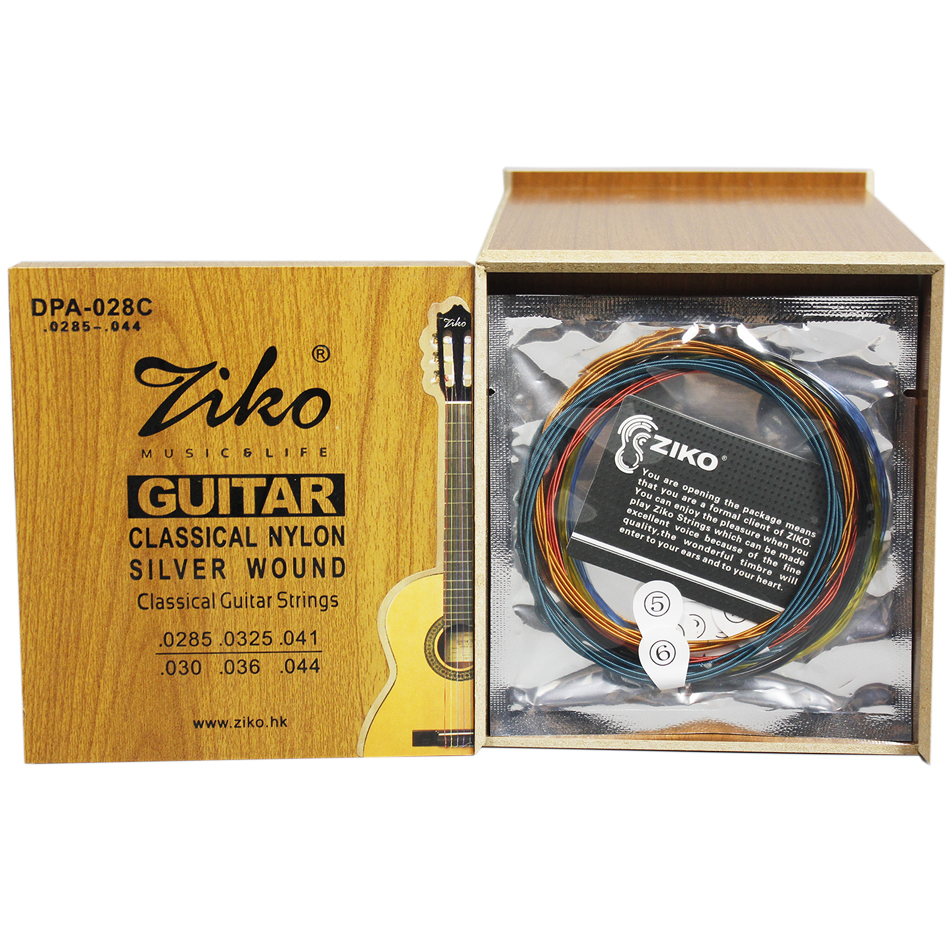 ZIKO DPA-028C Professional Colorful Classical Guitar Strings 0285-044 Colorful Nylon Colorful Coated Silver Wound