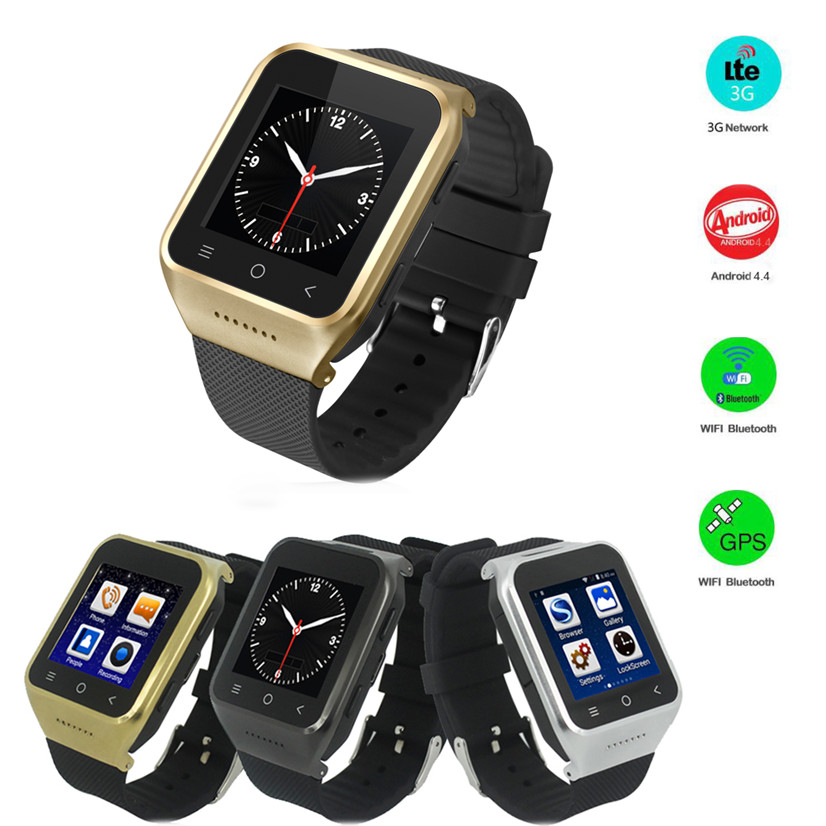 ФОТО Factory price Hot Selling S8 3G WCDMA Android 4.4 Smart Watch With 3.0 MP Camera GPS WiFi Free Shipping