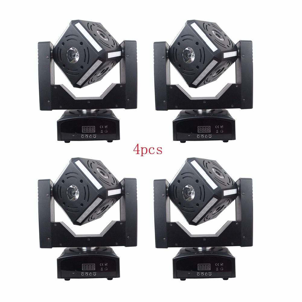 Mini dj 60W Beam wash light moving heads DMX 512 control Cube fo disco