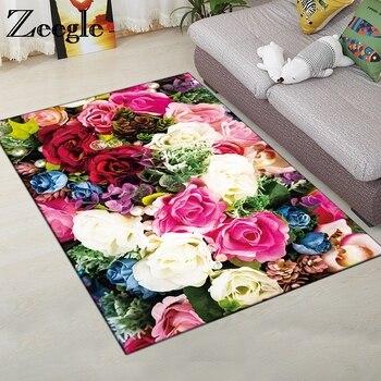 Zeegle Hause Teppich Teppiche Weiche Kind Teppich Blume Gedruckt Kaffee Tisch Boden Teppich Wohnzimmer Teppich Nicht-slip Matten schlafzimmer