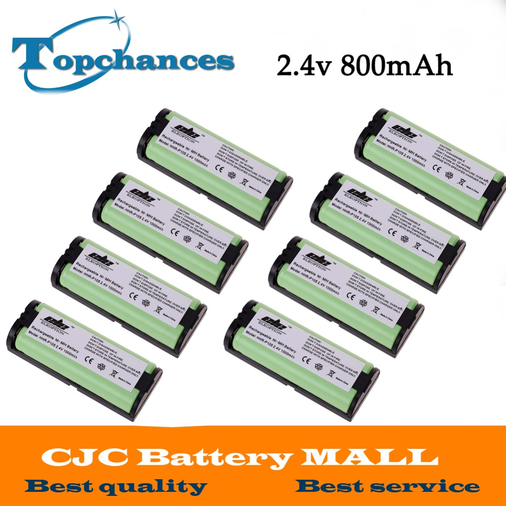 US High Quality 2.4V 1000mAh Ni-MH Home Phone Replacement Battery for Panasonic HHRP105 HHR-P105 1 6pcs 35mm od x 32mm id x 1000mm 100