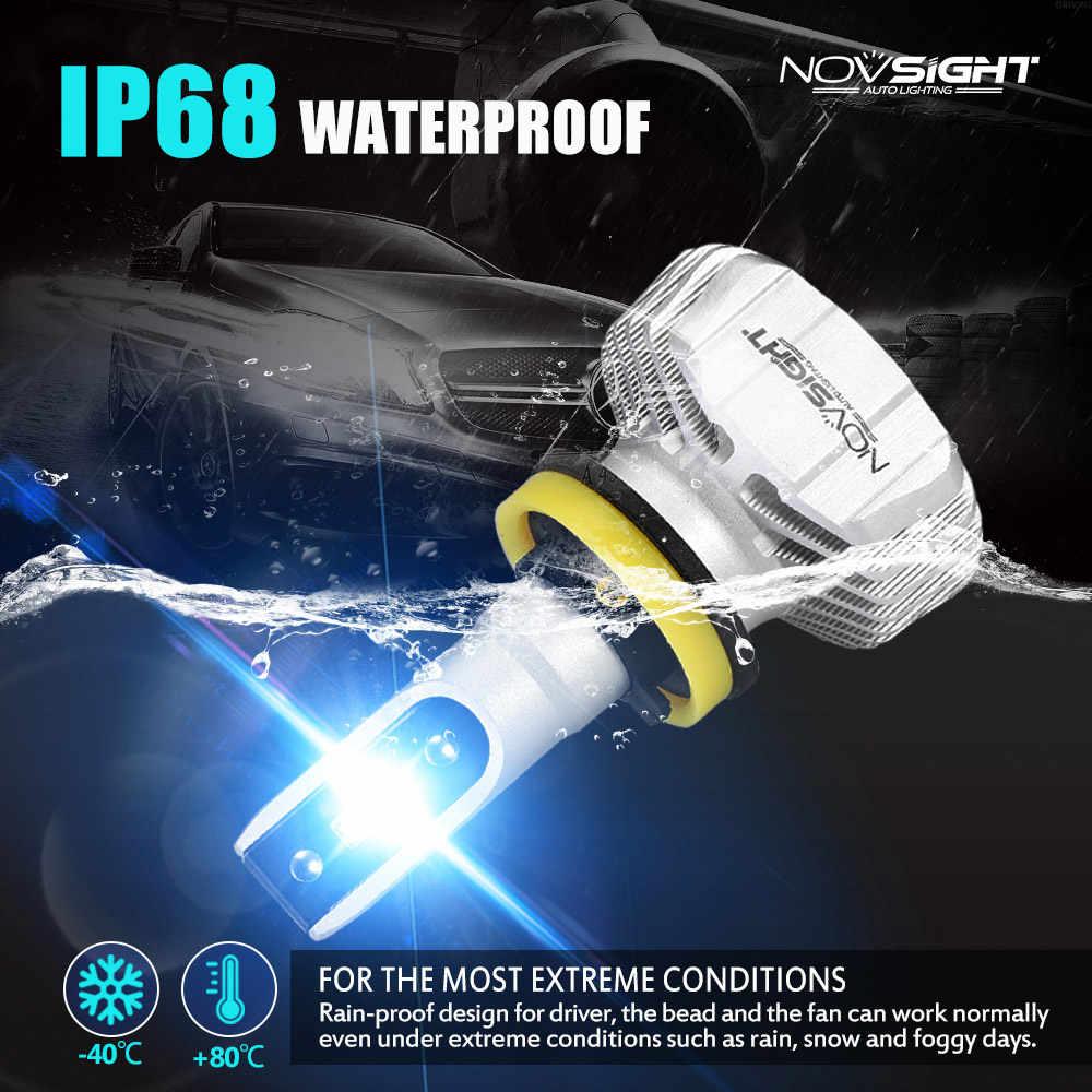 NOVSIGHT H4 LED H7 H11 H8 9006 HB4 H1 H3 HB3 H9 9007 H13 Car Headlight Bulbs LED Lamp CSP Chips 10000LM Auto Fog Lights 6500K