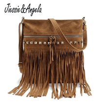 New Arrival Women Tassel Bag Cross Body Bags Casual Shoulder Messenger Bag Bolsa Feminina Handbags все цены