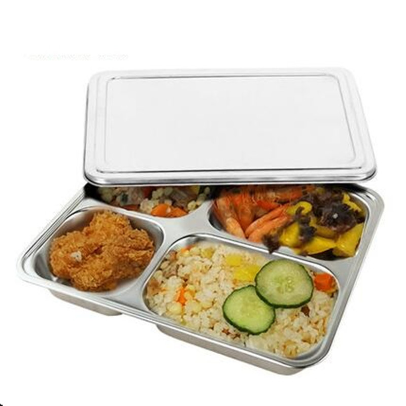 304 Stainless Steel Thermal Lunch Box Deepen Snack Box Bowl Food Processor Tool 4 Cylinder Lunch Box For Travelling School Work