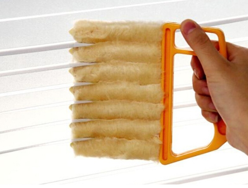New Arrival Vertical Window Blinds Brush Cleaner Mini 7 Shape Hand Held Window Brush Novelty Households Cleaning Fashion