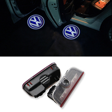 2pcs/lot Car LED Door Courtesy Light Welcome Logo Projector For VW Passat B6 B7 CC Golf 6 7 Jetta MK5 MK6 Tiguan Scirocco