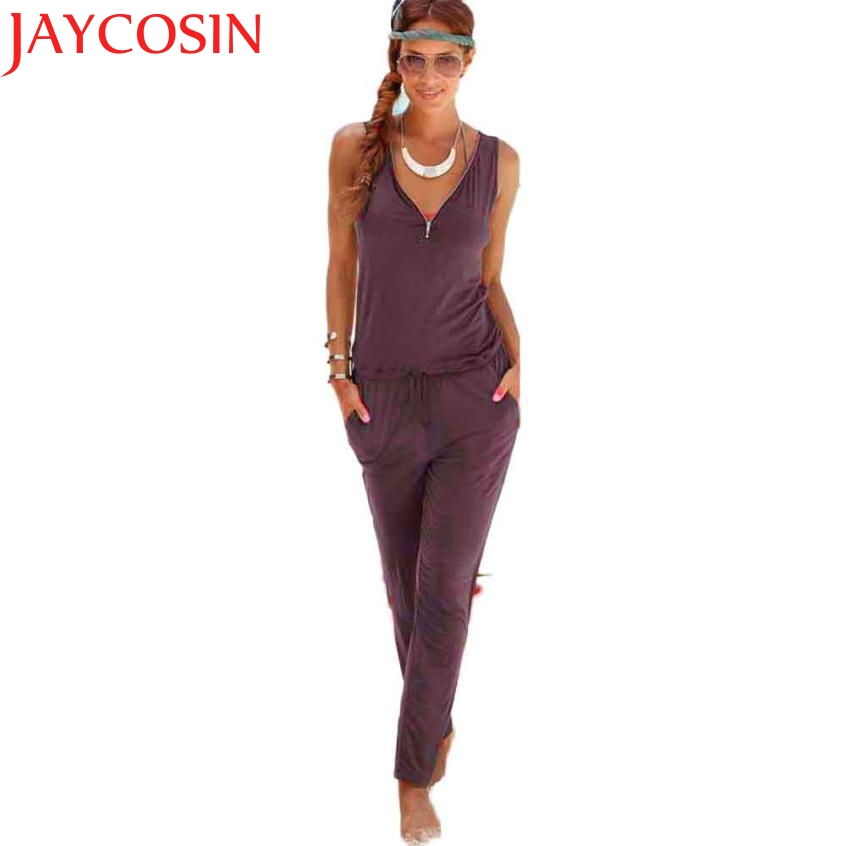 2017 Sexy V-collar Sling Jumpsuit Women Fashion Siamese Shorts Beach Jumpsuit J511