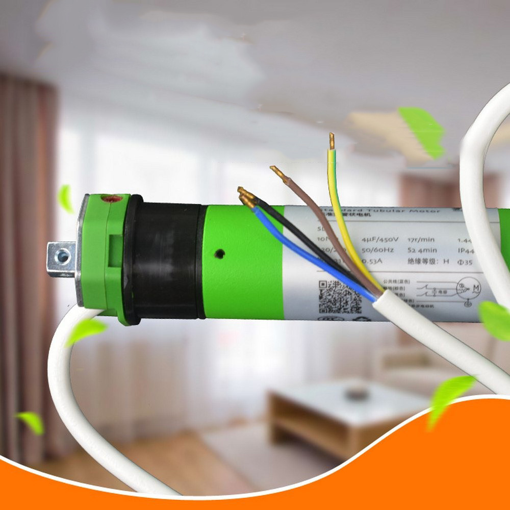 Tubular Motor Roller TM-35S-10/17 220V Shade Electric Curtain Motorized Rolling Blind Shutter Anti-theft Window