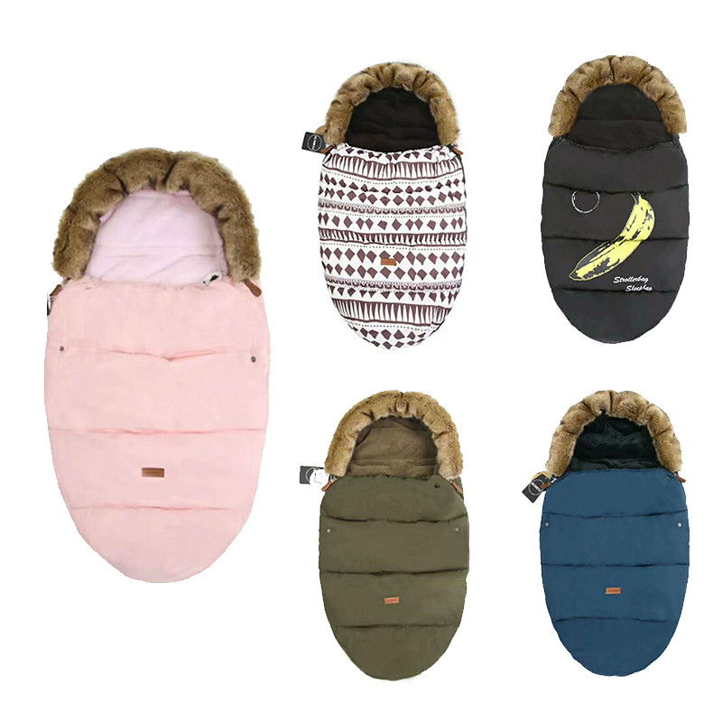 Baby stroller Sleeping Bag winter windproof foot cover Bunting Baby Stroller Footmuff Universel Stroller Accessories Sack