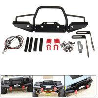 ARC0014 1/10 RC Crawler Car Aluminum Front Bumper w/ Winch Mount LED For Traxxas TRX 4 R AXIAL D90 1:10 RC Car Bumper