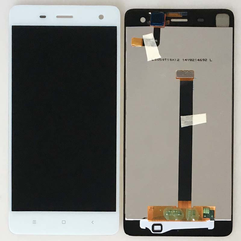 ФОТО White New LCD Display Glass Touch Screen Digitizer Assembly For Xiaomi Mi4 Mi-4 M4  Replacement