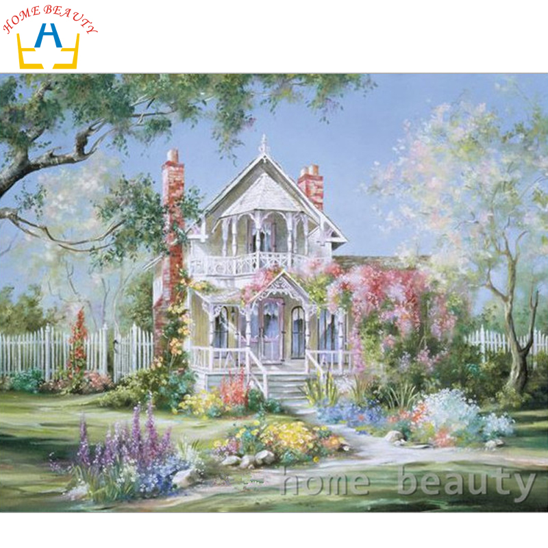 Home beauty 40x50cm picture paint on canvas diy digital for Digitally paint your house