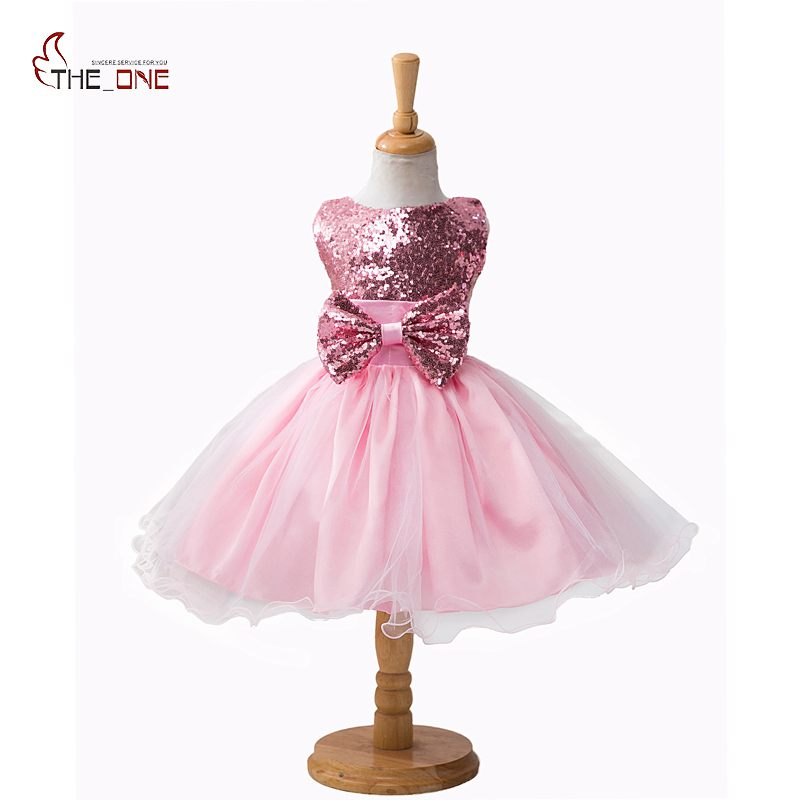 MUABABY Girls Princess Party Dresses Summer Sequined Girl Wedding Dress Children Evening Ball Costume Bow Tulle Dresses Clothes spring summer 2018 children girl clothes sequined top red sky blue purple princess formal girls hot pink dresses tulle bow