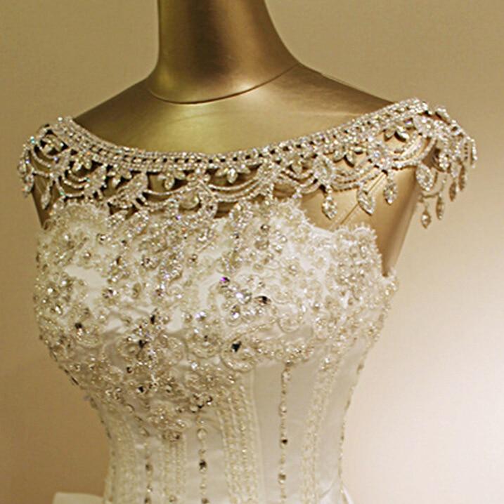 Vintage Luxury Bridal Necklace Shoulder Chain Rhinestone Shiny