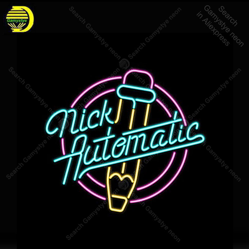 Neon Sign Nick Automatic Neon Bulb sign handcraft Beer Restaurant Decorate neon Advertise vintage neon light anuncio luminos