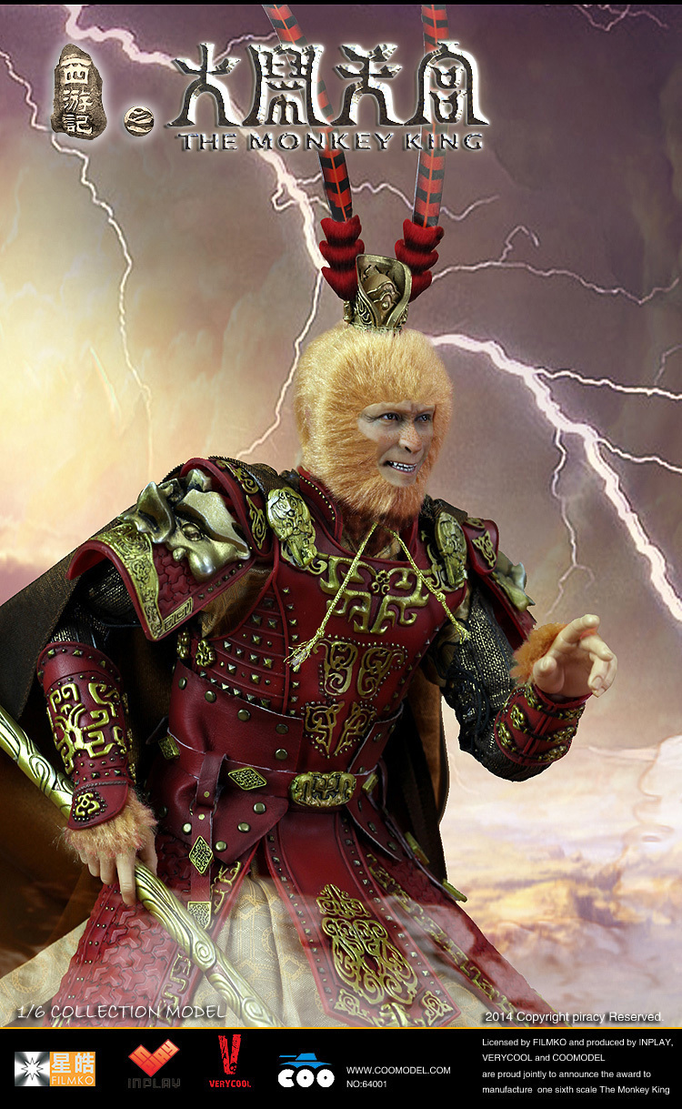 1 6 scale figure doll jurney to the west monkey king with 2 heads 12 action figures doll collectible figure model toy gift 1/6 scale figure doll THE MONKEY KING Monkey monster Monkey King 12 Action figure doll Collectible Figure Plastic Model Toys