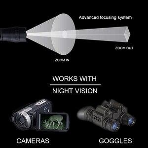 Image 5 - 10W HỒNG NGOẠI 940nm Đèn Pin Chiến Thuật Tầm Nhìn Ban Đêm LED Phóng To Bức Xạ Hồng Ngoại Tập Trung Súng Đèn Săn Bắn Đèn Pin + Pin 18650 + Sạc