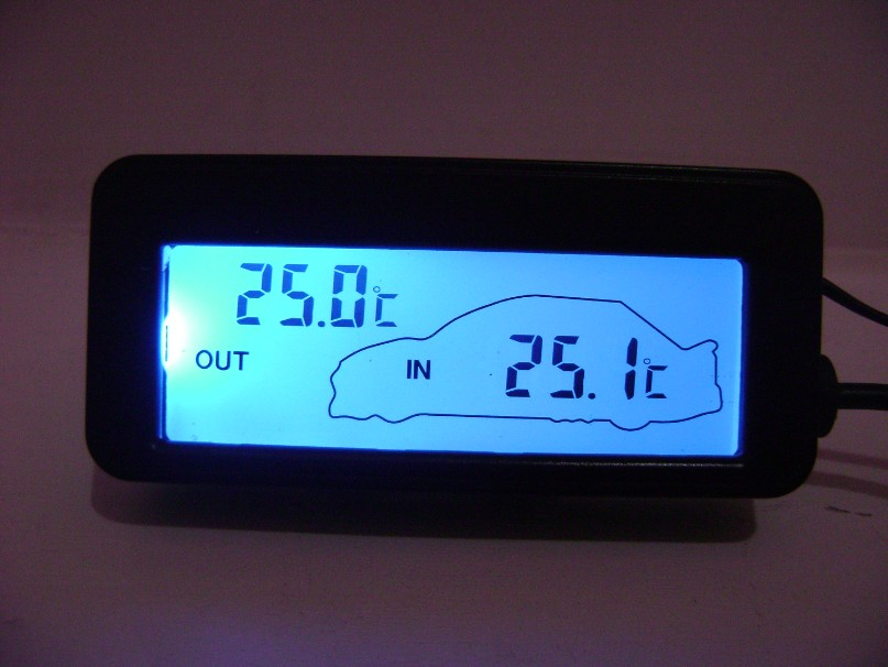 free shipping car thermometer car backlight car. Black Bedroom Furniture Sets. Home Design Ideas