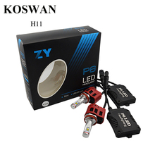 2X6000 K Blanc H11 90 W LED Phare De Voiture Faisceau de Conversion Ampoules Kit P6 Haute Qualité H11 LED Projecteur Ampoule 9000LM 5000 K