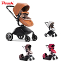 Hot!Pouch 2 in 1 Luxury NewbornBaby Stroller Mom Travel System with Bassinet Combo High Landscape  Stroller The Best Gift