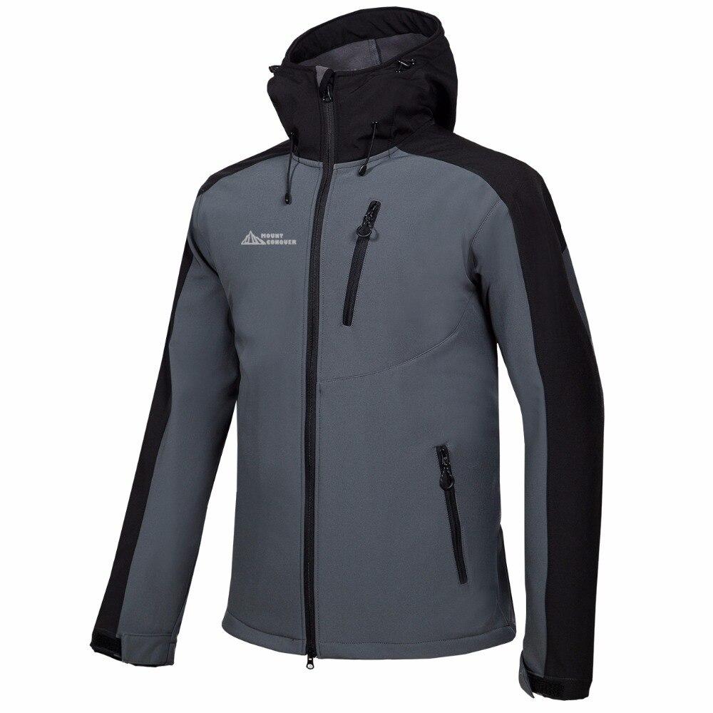 2b3f223474 Cheap Mammoth hombres senderismo Camping esquí hombre rompevientos invierno  Softshell polar chaquetas al aire libre ropa