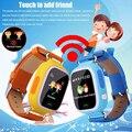 Crianças smart watch q90 dispositivo de localização de posição localizador rastreador gps e wi-fi com tela de toque criança relógio de pulso silicone strap