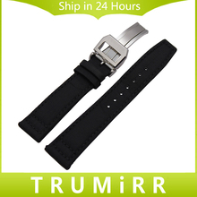 Nylon + Genuine Leather Watchband 20mm 21mm 22mm for Pilot Portugieser Watch Band Stainless Steel Buckle Strap Wrist Bracelet