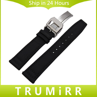 Nylon Genuine Leather Watchband 20 21 22mm For IWC Pilot Portugieser Watch Band Stainless Steel Buckle
