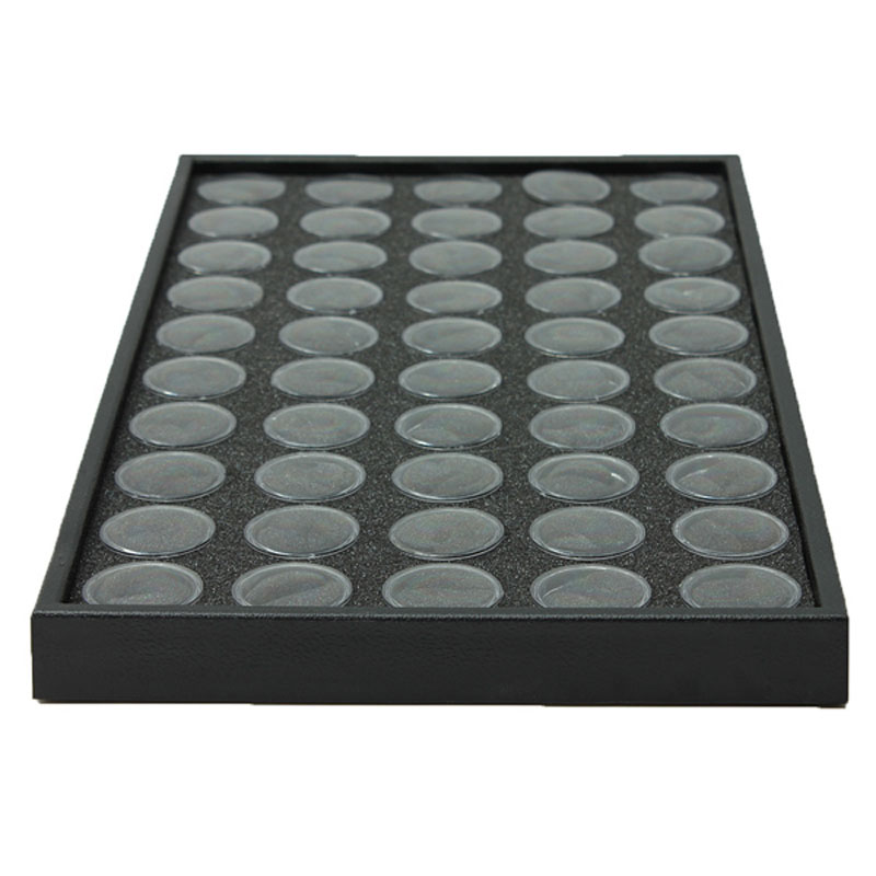 50 Pots Nail Art Manicure Empty Glitter Dust Powder Jewelry Display Box Cases Decorations Storage Plate Tool MH88