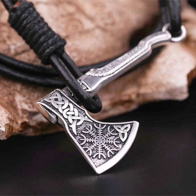 Bracelet slavonique Viking hache 3