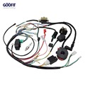 Goofit Full Electrics Wiring Harness Coil CDI ATV Quad Pit Dirt Bike Buggy Go kart Spark Plug Kits For 50cc 70cc 90cc 110cc 125c