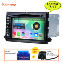 Seicane 7″ Android 7.1 Car DVD Player for Ford Expedition(U324) 2007-2010 Radio GPS Navigation 3G WIFI Support rear view camera
