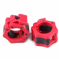 Black Blue Red 1 Pair 2 50mm Barbell Collar Lock Weight Lifting Weightlifting Gym Crossfit Fitness