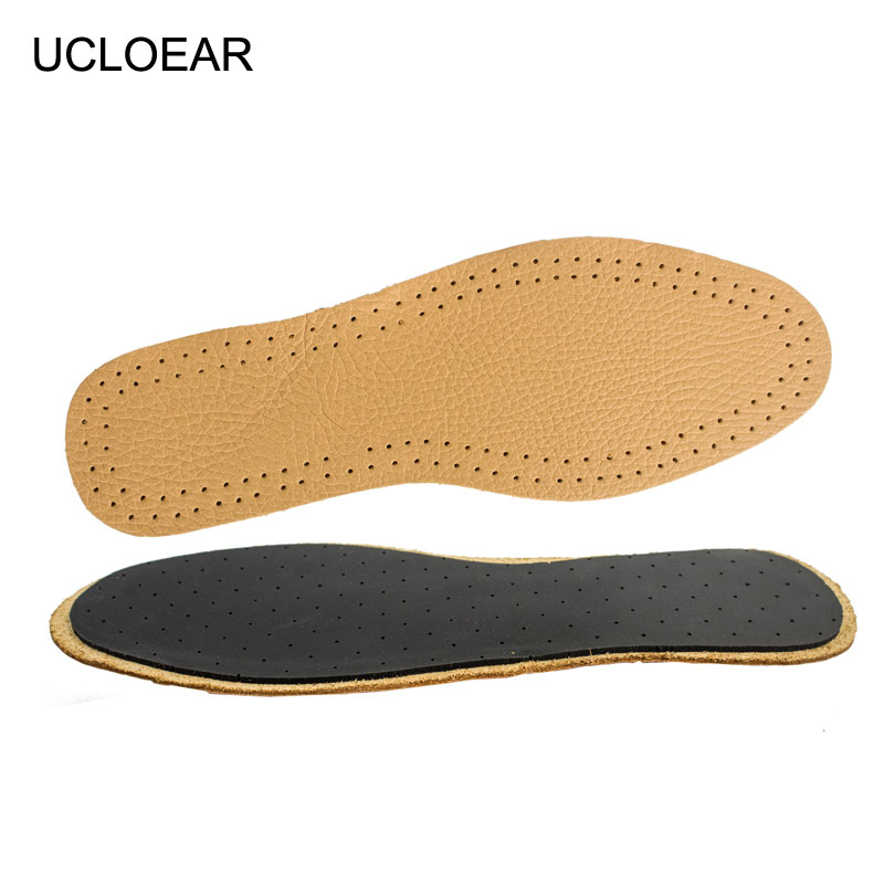 UCLOEAR Sport Breathable Insoles Comfortable Outdoor Shoes Pads Running Soft Insole Leather Emulsion insoles For Shoes soumit new style breathable lightweight leather insole genuine soft cowhide sweat absorbent insoles for men and women shoes pads
