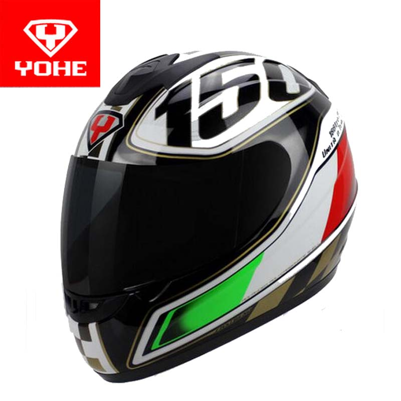 YOHE motorcross motorcycle helmet winter run full face motorbike helmets made of ABS model YH-993 have 5 kinds of colors 4 size yohe full face motorcycle helmet yh 967 double lense full cover motorbike helmets made of abs pc lens visor have 9 kinds colors