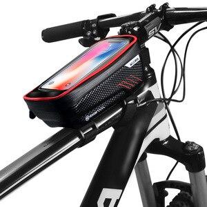 Image 5 - حقيبة دراجة عالمية من ARVIN مزودة بحامل للهاتف المحمول لهاتف iPhone X XR sansing S9 مضادة للمطر ومضادة للماء مع حقيبة أمامية مقاس 6.2 بوصة