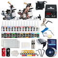 Complete Beginner Tattoo Kit Machine Guns Inks Needles Tattoo Power Supply SMT28-2