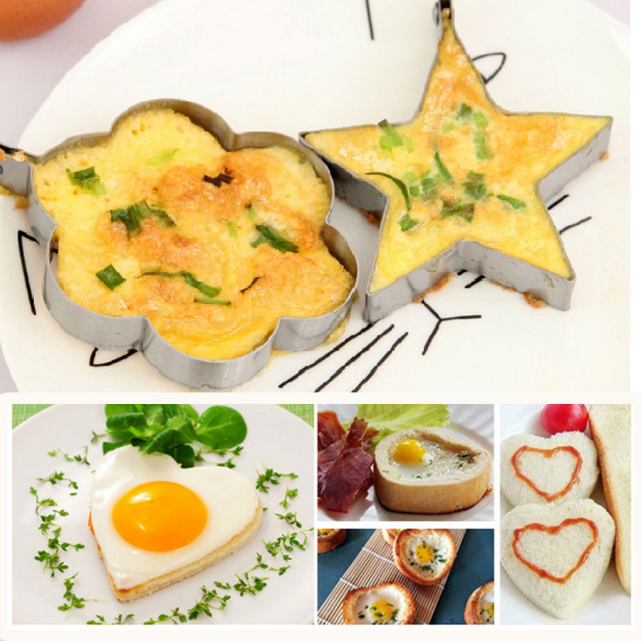 Thick Stainless Steel Fried Eggs Cooking Tools Omelet Breakfast Baking  Model Egg Shaped Creative Kitchen Appliances In Egg U0026 Pancake Rings From  Home ...