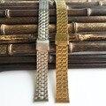 Correa de reloj 18mm venda de reloj de acero inoxidable de 2017 nuevos hombres de la manera Correas de relojes de metal de 18mm X005