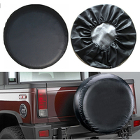 Car Tire Cover 15 Inch Waterproof Spare Portable Tire Tyre Wheel Cover Pure Black Heavy Duty