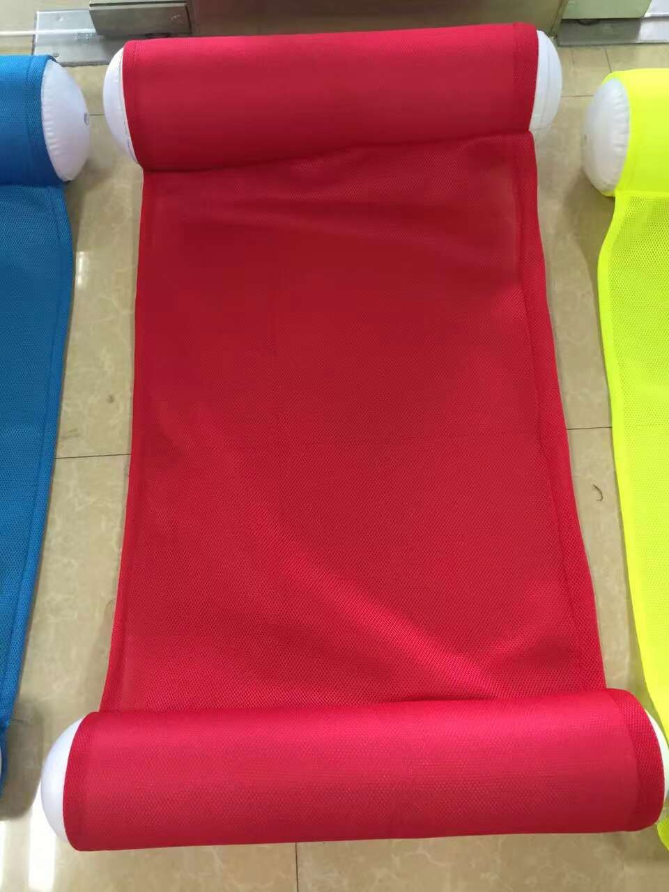 Fluorescent color Water Hammock Mesh Pool Float For Adult Kid Air Mattress Beach Bed Lounge Lie-on Swimming Ring Chair boia