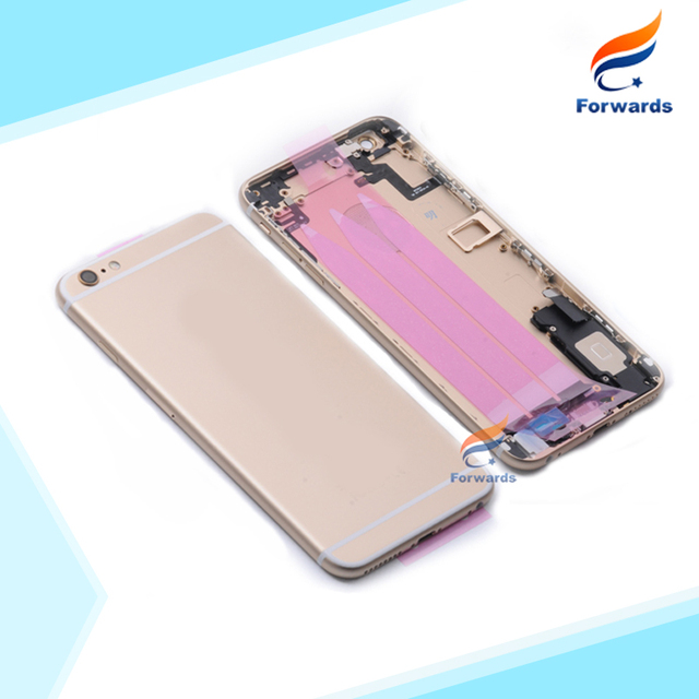1 piece free shipping New for iPhone 6s plus Full Housing Metal Alloy Back Cover Battery Rear Door + Flex Cable +Button Assembly