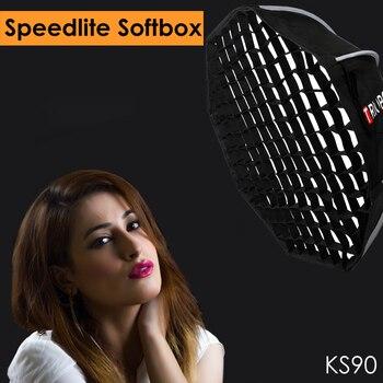 Triopo 90cm Speedlite Softbox Portable w/ Honeycomb Grid Outdoor Octagon Umbrella Flash Soft Box for Canon Nikon Sony Godox Softbox