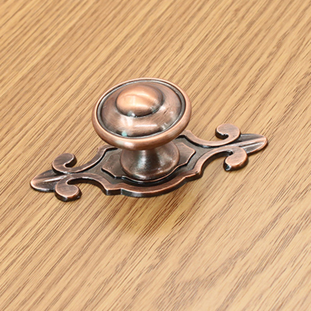 10pcs Red Bronze Drawer Pulls Zinc Alloy Copper Plating Kitchen Knobs Cabinet Handles
