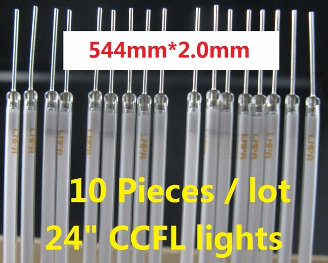 """10 pieces/lot 24""""24inch wide screen monitor CCFL lamps backlight tube 544mm(54.4CM)*2.4mm"""