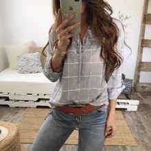 women blouse new  fashion female plaid shirts womens top festivals shirt ladies classics tops elegance vintage woman clothing