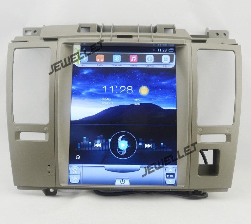 10.4 tesla style vertical écran android 4.4 Quad core De Voiture GPS radio Navigation pour Nissan Tiida Versa Dodge trazo
