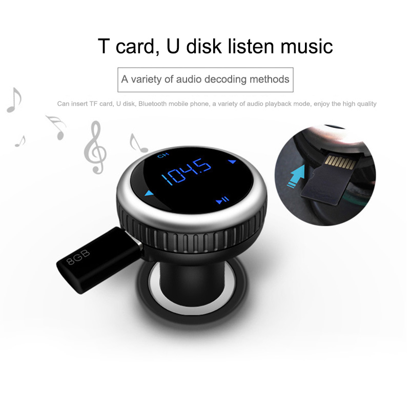 New Bluetooth Receiver FM Transmitter Wireles Car Charger MP3 Player Dual USB Charging for iPhone 7/7 Plus iPad Samsung CSL2017 usb