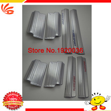 Car styling Interior welcome pedal door sill Stainless steel door sill,Internal threshold stickers For PAJERO