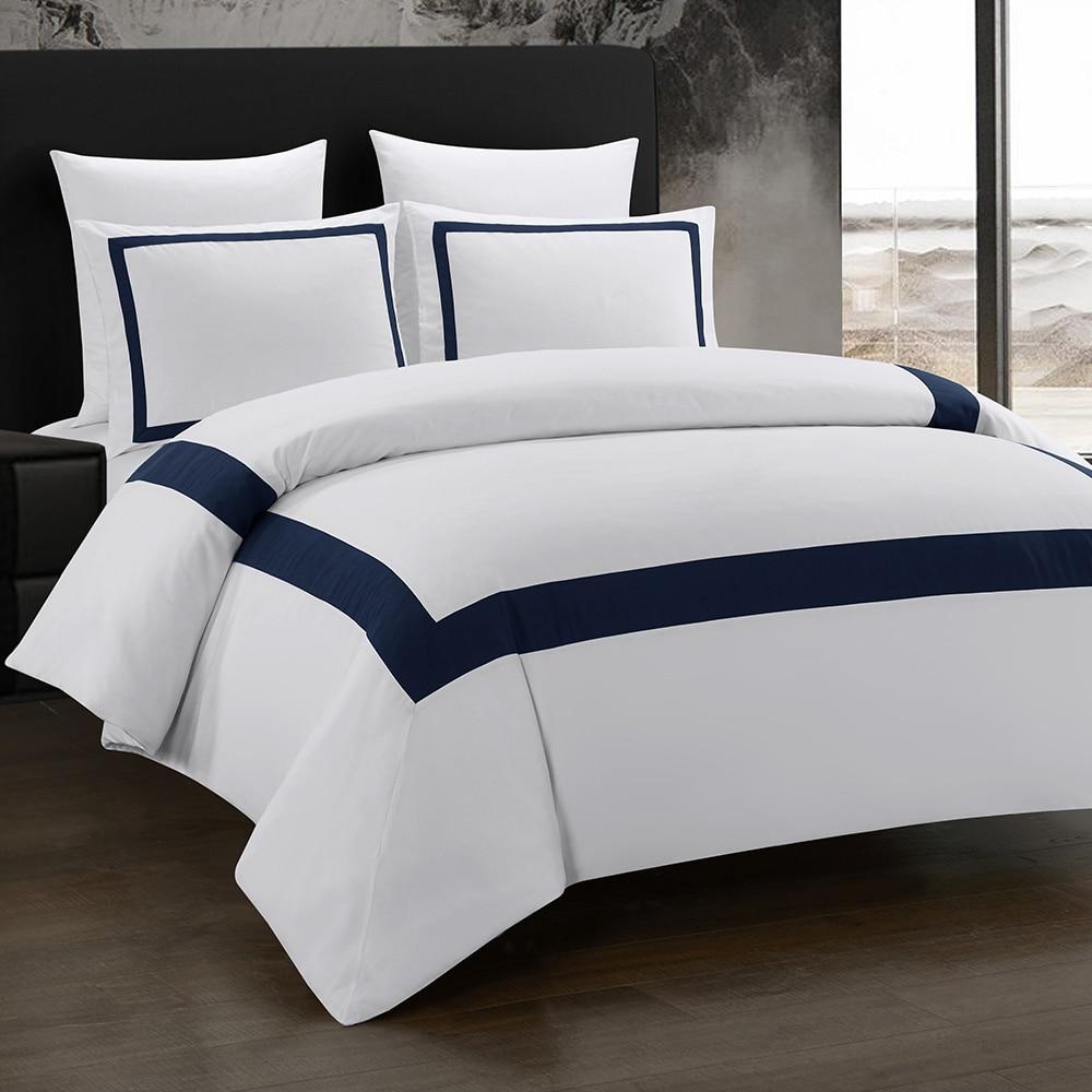 Yimeis juego de ropa de cama geométrica edredón con pespunte cama doble de lujo BE45005